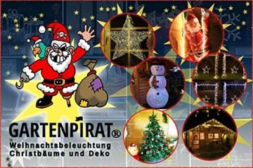 Lichtervorhang 1m 40 Sterne LED warmweiß beleuchtet Lichterkette für Fenster Weihnachten - 5