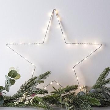 Lights4fun LED Stern Fensterbild Weihnachten Fensterdeko Timer Batteriebetrieb 35cm - 3