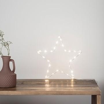 Lights4fun LED Stern Fensterbild Weihnachten Fensterdeko Timer Batteriebetrieb 35cm - 4