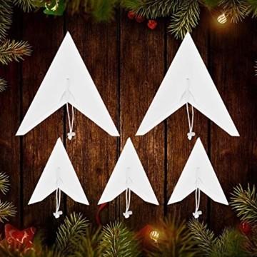 Linkbro 5 Stück Papierstern, Papiersterne Weihnachten, 9 Zacken, 30cm x 3 + 45cm x 2, für Weihnachts Dekoration, Fenster Dekoration, DIY Dekoration - 6