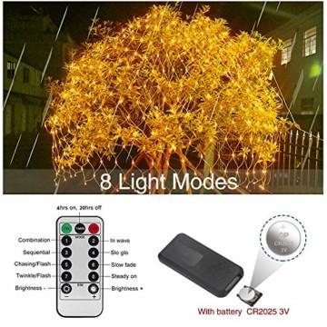 MGRETT LED Lichternetz 3x2M 200 LEDs Lichterkette Außen Lichterkette Netz mit Fernbedienung & Timer 8 Modi Lichternetz Innen und Außen Warmweiß für Weihnachten Party Halloween Hochzeit Garten Zimmer - 2