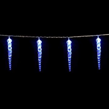 Monzana 80 LED Lichterkette Eiszapfen Blau Innen & Außen Länge 13m Weihnachten Beleuchtung Weihnachtsdeko Outdoor - 1