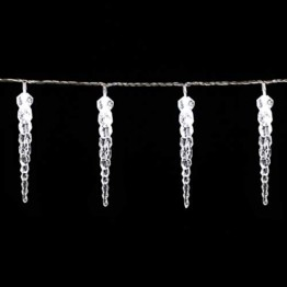 Monzana 80 LED Lichterkette Eiszapfen Kaltweiß Innen & Außen Länge 13m Weihnachten Beleuchtung Weihnachtsdeko Outdoor - 1