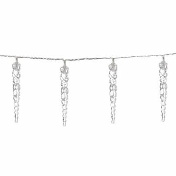 Monzana 80 LED Lichterkette Eiszapfen Kaltweiß Innen & Außen Länge 13m Weihnachten Beleuchtung Weihnachtsdeko Outdoor - 5