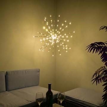 Nipach GmbH 120 LED Meteor Stern Leuchtfarbe warm weiß Ø 60 cm für Innen und Außen mit Trafo Timer Weihnachtsstern zum Aufhängen Weihnachtsdeko Xmas - 4