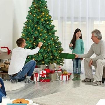 OUSFOT Weihnachtsbaum Künstlich 182cm 800 Äste mit 400er LED Lichterkette 8 Beleuchtungsmodi Schnellaufbau Material PVC inkl. Metallständer Warmweiß - 3