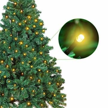 OUSFOT Weihnachtsbaum Künstlich 182cm 800 Äste mit 400er LED Lichterkette 8 Beleuchtungsmodi Schnellaufbau Material PVC inkl. Metallständer Warmweiß - 4