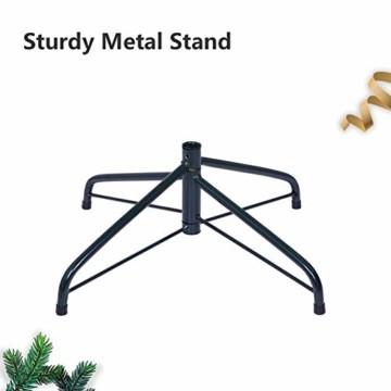 OUSFOT Weihnachtsbaum Künstlich 182cm 800 Äste mit 400er LED Lichterkette 8 Beleuchtungsmodi Schnellaufbau Material PVC inkl. Metallständer Warmweiß - 5