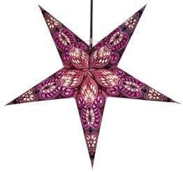 Papierstern Menor violett-natur / Leuchten & Sterne - 1