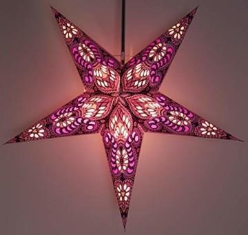 Papierstern Menor violett-natur / Leuchten & Sterne - 3