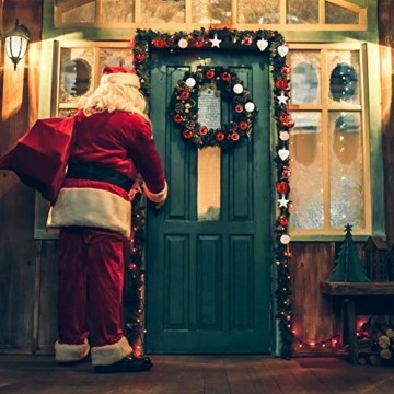 Petrichor Weihnachtskugeln 80er Set Christbaumkugeln Plastik Rot Weiß Weihnachtsbaum Schmuck für Weihnachtsbaum Dekoration Weihnachtsbaumschmuck Baumschmuck - 4