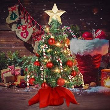 PRETYZOOM Weihnachts-Minisimulations-Weihnachtsbaum mit Hängendem Lichterkettenlicht für Partyschmuck - 2