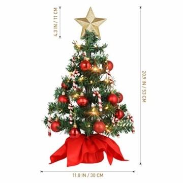 PRETYZOOM Weihnachts-Minisimulations-Weihnachtsbaum mit Hängendem Lichterkettenlicht für Partyschmuck - 3