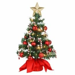 PRETYZOOM Weihnachts-Minisimulations-Weihnachtsbaum mit Hängendem Lichterkettenlicht für Partyschmuck - 1