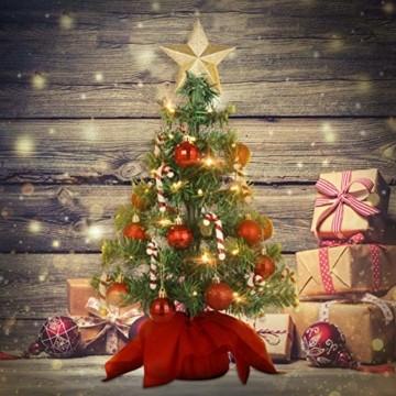 PRETYZOOM Weihnachts-Minisimulations-Weihnachtsbaum mit Hängendem Lichterkettenlicht für Partyschmuck - 4