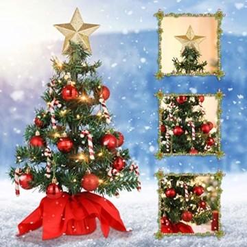 PRETYZOOM Weihnachts-Minisimulations-Weihnachtsbaum mit Hängendem Lichterkettenlicht für Partyschmuck - 5