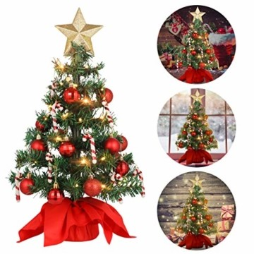 PRETYZOOM Weihnachts-Minisimulations-Weihnachtsbaum mit Hängendem Lichterkettenlicht für Partyschmuck - 7