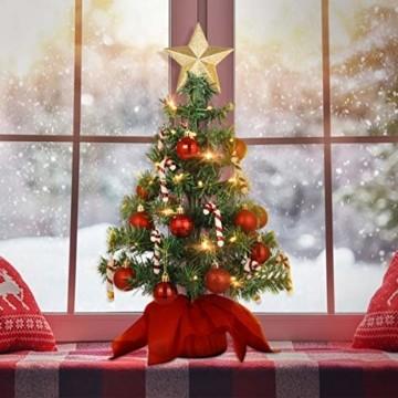 PRETYZOOM Weihnachts-Minisimulations-Weihnachtsbaum mit Hängendem Lichterkettenlicht für Partyschmuck - 8