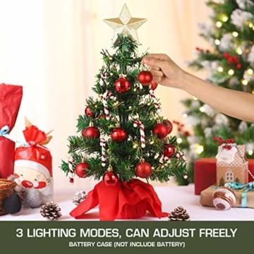 PRETYZOOM Weihnachts-Minisimulations-Weihnachtsbaum mit Hängendem Lichterkettenlicht für Partyschmuck - 9