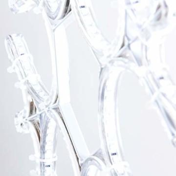 Pridea Schneeflocke Weihnachtsbeleuchtung 360 LED`s 36cm Weihnachtsdeko Weihnachtsfenster Balkon Deko Indoor Outdoor - 4