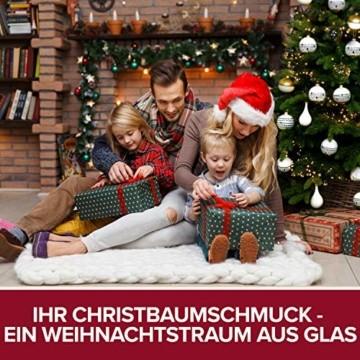 Pure Living Weihnachtskugeln Glas im wunderschönen Handwerk-Design - 24-tlg. Set mit exklusiven Christbaumkugeln Glas - Weihnachtsbaumkugeln in EU Premium-Qualität - Einzigartig-festlicher Baumschmuck - 2