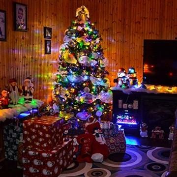 Quntis 20m 200 LED Lichterkette Außen Bunt, IP44 8 Modi Weihnachtsbeleuchtung Innen Strombetrieben, Weihnachtsdeko für Weihnachtsbaum Garten Balkon Terrasse Büsche Zimmer Fenster Wand Party Hochzeit - 3