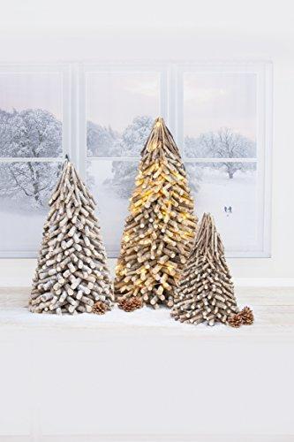 Rayher 65202000 Deko-Holzbaum für Weihnachten, Höhe 40 cm - 2