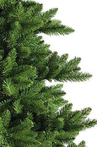 RS Trade HXT 19001 künstlicher Weihnachtsbaum 210 cm (Ø ca. 146 cm) mit 1910 Spitzen und Schnellaufbau Klapp-Schirmsystem, schwer entflammbar, unechter Tannenbaum inkl. Metall Christbaum Ständer - 2
