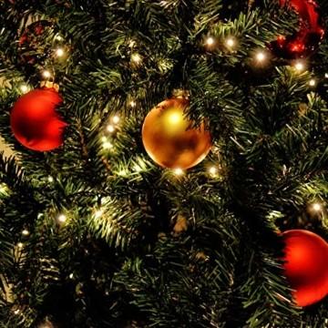 SALCAR 3m Christbaumbeleuchtung mit Ring, Weihnachtsbaum-Überwurf-Lichterkette mit 10 Girlanden 350er LED Lichterkette Wasserdicht für 120cm - 350cm baum, tannenbaum, grüngürtel, busche - Warmweiß - 4