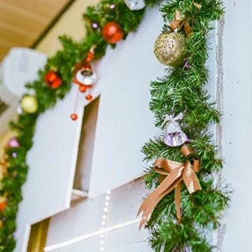SALCAR Künstliche Weihnachtsgirlande Tannengirlande 3m, Tannengirlande Tannenzweiggirlande Weihnachtsdeko,außen & innen - 3