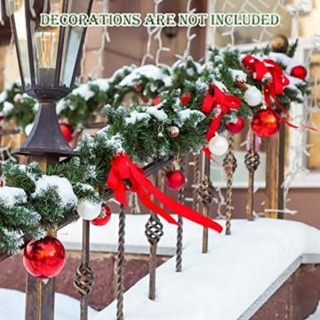 SALCAR Künstliche Weihnachtsgirlande Tannengirlande 3m, Tannengirlande Tannenzweiggirlande Weihnachtsdeko,außen & innen - 7
