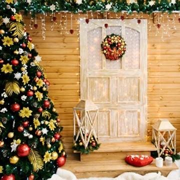 SEGVA LED lichterkette Vorhang 6m x 1m, 300er LED Lichtervorhang für Weihnachten - Warmweiß - 3