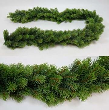 Seidenblumen Roß Künstliche Tannengirlande rund 170cm Double DP Kunststanne Kunststoff Spritzguss-Verfahren 100% PE künstliche Tanne - 1