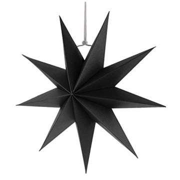 Sharplace Faltsterne, 30 cm 9 Zacken Weihnachtsstern Papiersterne Setfür Weihnachtsbaum Christmasbaum - Weiß grau Schwarz, 3 Stück - 3