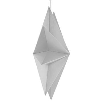 Sharplace Faltsterne, 30 cm 9 Zacken Weihnachtsstern Papiersterne Setfür Weihnachtsbaum Christmasbaum - Weiß grau Schwarz, 3 Stück - 5