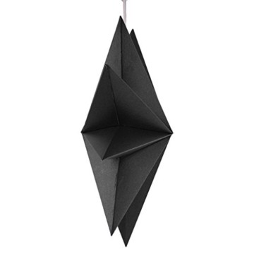Sharplace Faltsterne, 30 cm 9 Zacken Weihnachtsstern Papiersterne Setfür Weihnachtsbaum Christmasbaum - Weiß grau Schwarz, 3 Stück - 8