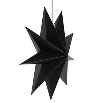 Sharplace Faltsterne, 30 cm 9 Zacken Weihnachtsstern Papiersterne Setfür Weihnachtsbaum Christmasbaum - Weiß grau Schwarz, 3 Stück - 9