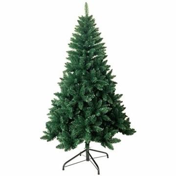 shine future Künstlicher Weihnachtsbaum,Weihnachtsbaum Künstlich 180 cm(5.9ft),Weihnachtsbaum mit 800 Spitzen,Tannenbaum Künstlich Christmas Tree mit Metall Ständer,PVC Dekobaum Christbaum - 1