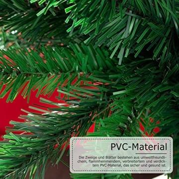 shine future Künstlicher Weihnachtsbaum,Weihnachtsbaum Künstlich 180 cm(5.9ft),Weihnachtsbaum mit 800 Spitzen,Tannenbaum Künstlich Christmas Tree mit Metall Ständer,PVC Dekobaum Christbaum - 5