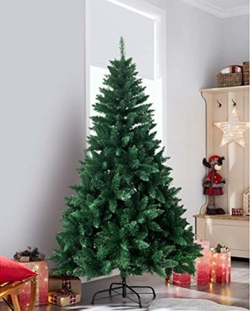 shine future Künstlicher Weihnachtsbaum,Weihnachtsbaum Künstlich 180 cm(5.9ft),Weihnachtsbaum mit 800 Spitzen,Tannenbaum Künstlich Christmas Tree mit Metall Ständer,PVC Dekobaum Christbaum - 7