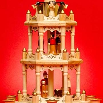 SIKORA P3 Klassische Holz Weihnachtspyramide mit 3 Etagen - 2