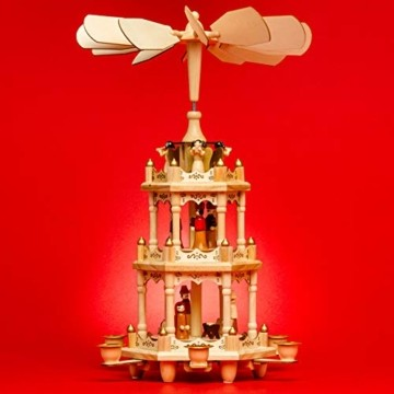 SIKORA P3 Klassische Holz Weihnachtspyramide mit 3 Etagen - 3