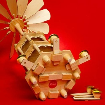 SIKORA P3 Klassische Holz Weihnachtspyramide mit 3 Etagen - 4