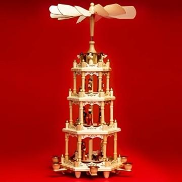 SIKORA P4 Klassische Holz XL Weihnachtspyramide mit 4 Etagen - 1