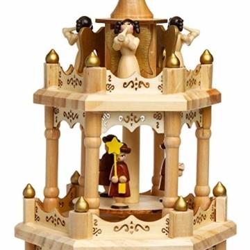 SIKORA P4 Klassische Holz XL Weihnachtspyramide mit 4 Etagen - 7