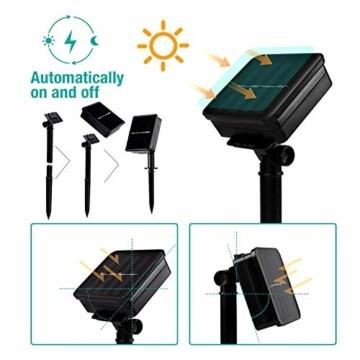 Solar Lichterkette, Mr.Twinklelight 4.5M 30er LED Lichterkette Außen Kristall Kugeln Garten Licht für Garten, Terrasse, Zuhause, Weihnachtsdeko und Partys (Warmweiß) - 2