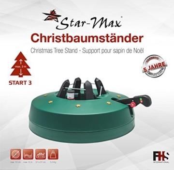 Star-Max Christbaumständer by F-H-S, Start 3, Modell 2018, für Baumhöhe bis 3,0 m, Weihnachtsbaumständer mit Fuhebelfunktion und Einseiltechnik, 3,0 Liter Wassertank, 3 liters, Grün - 4