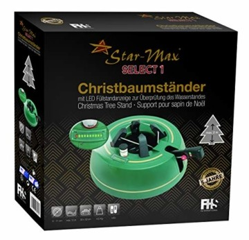 Star-Max Christbaumständer Select 1, Vollkunststoff, grün, 325 mm - 5