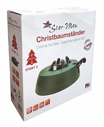 Star-Max S300 Christbaumständer START 3 - Baumhöhe max. 3,0m, Modell 2019 by F-H-S, mit Fußhebelfunktion und Einseiltechnik, 3,0 Liter Wassertank, grün - 4