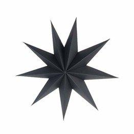 SUNBEAUTY 30cm Papier Stern Schwarz 3er Set Faltsterne Dekoration Neuneck Weihnachtsstern Deko - 1